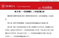 世联深圳市场播报20190428