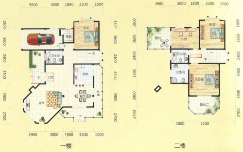 桃花源墅28#楼D户型-3室3厅3卫1厨建筑面积279.60平米