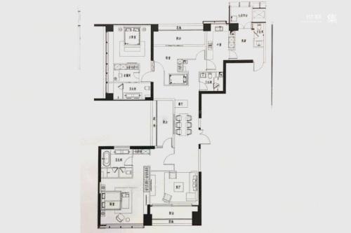 新天鹅堡D#2单元04户型-3室2厅4卫2厨建筑面积260.00平米