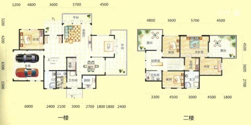 桃花源墅7#楼H户型-5室3厅4卫1厨建筑面积345.00平米