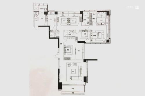 新天鹅堡A#D#2单元06户型-5室2厅5卫2厨建筑面积293.00平米