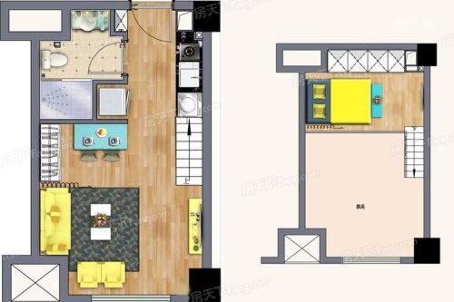 中南世纪雅苑C7#C8公寓35平米户型