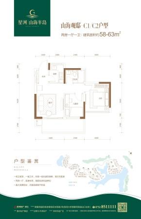 惠州星河山海半岛高层C1/C2户型