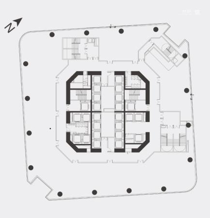 世茂前海中心2500m²-2600m²平层商办