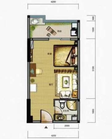 南平名流世家45平单身公寓