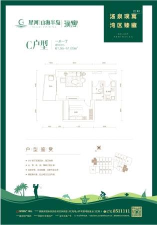 惠州星河山海半岛公寓C户型