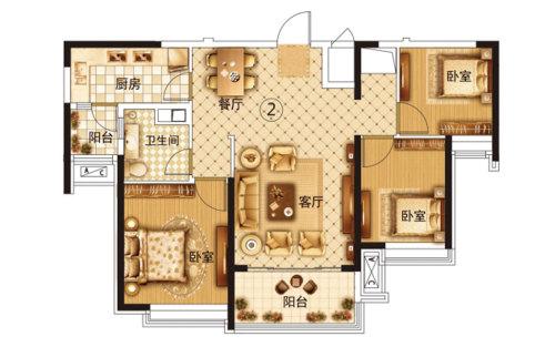 恒大·翡翠华庭11号楼1单元2号房