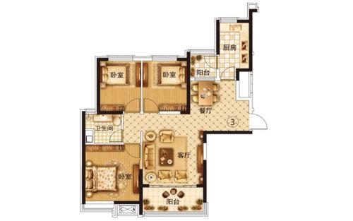 恒大·翡翠华庭1号楼1单元3号房