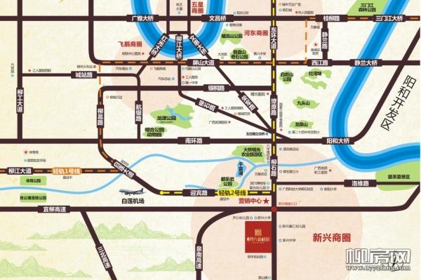 四方新桂园区位图