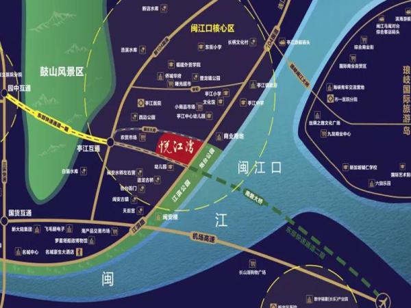 福州悦江湾区位图