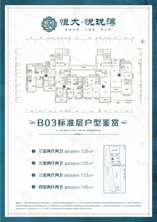 滨州恒大悦珑湾B03标准层