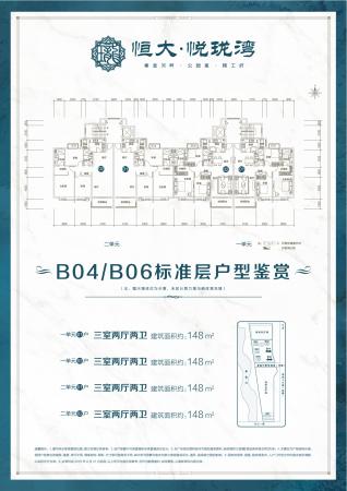 滨州恒大悦珑湾B04、B06标准层