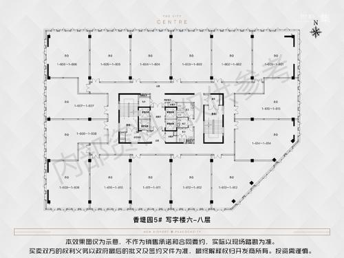 新空港孔雀城财富港平层写字楼