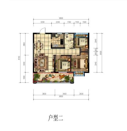 希宇城漓江湾90㎡住宅