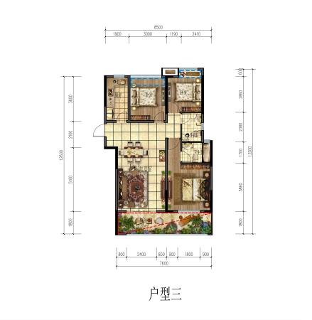 希宇城漓江湾110㎡住宅