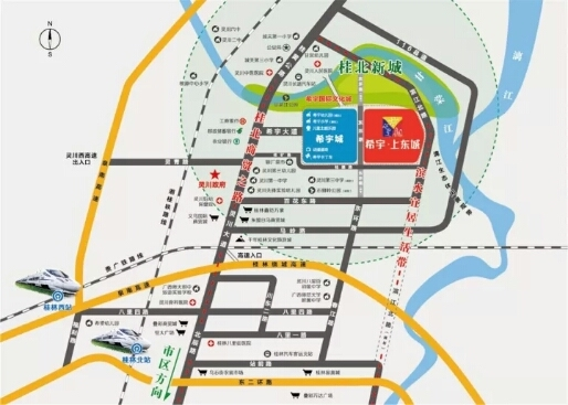 希宇城区位图