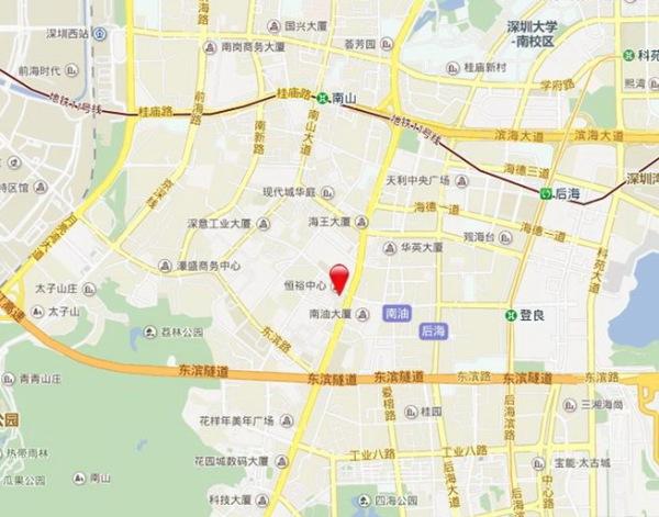 深圳双子湾区位图