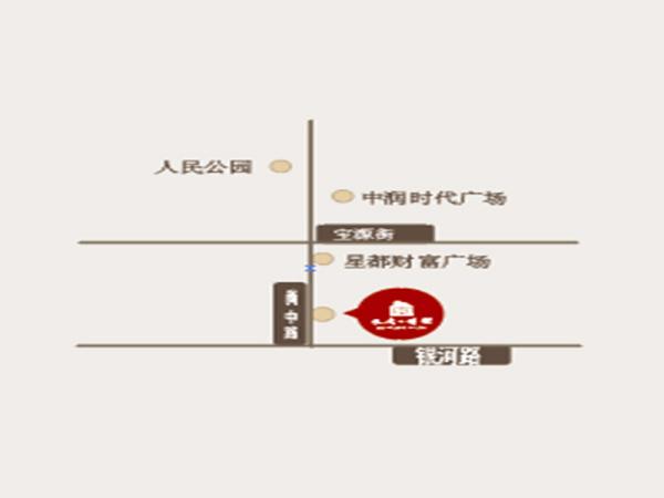 长青艺墅区位图