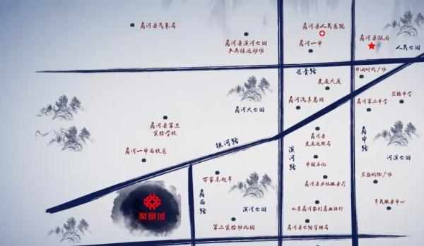 聚景城区位图