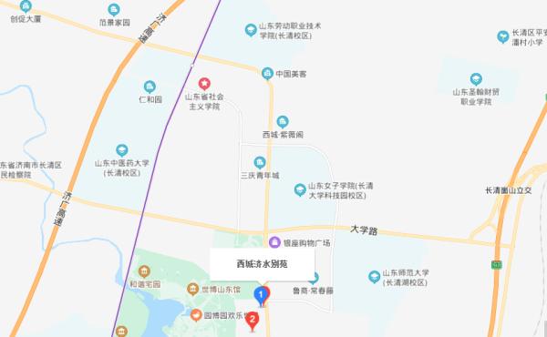 济水别苑区位图