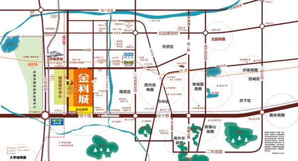 金科城区位图