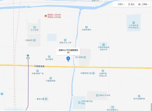 连城中心区位图