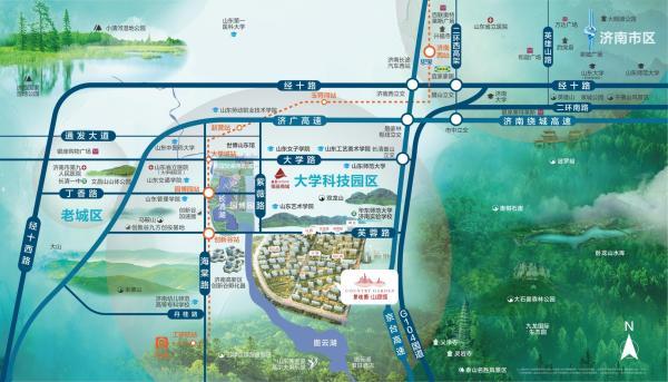 碧桂园·山湖城区位图