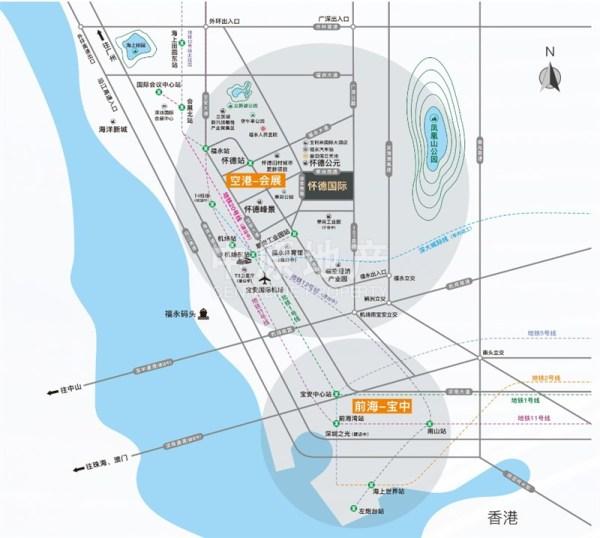 怀德国际广场区位图