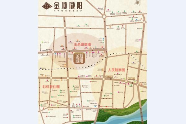 金域咸阳区位图