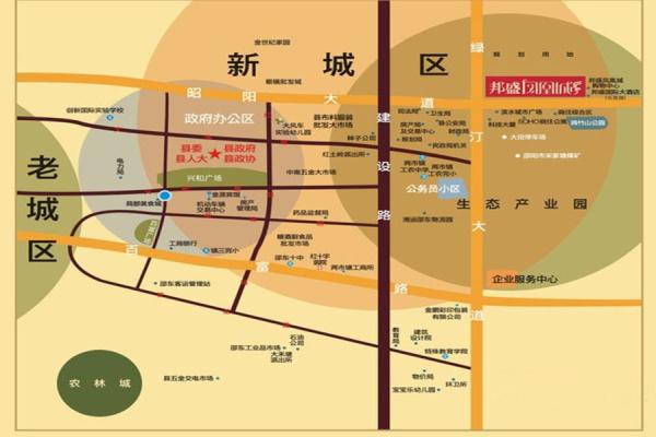 邵东邦盛凤凰城区位图