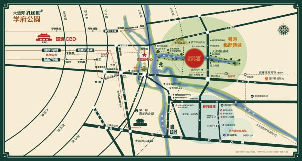 大运河孔雀城时代锦悦区位图