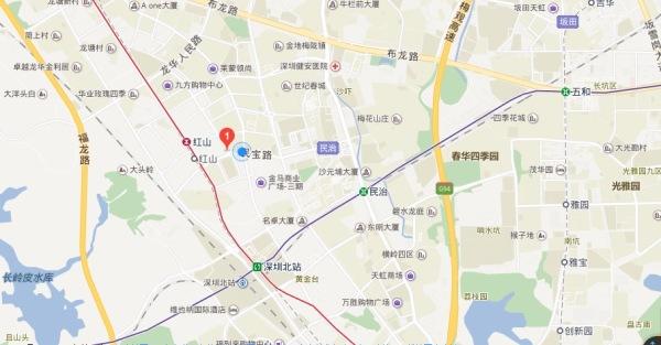 深圳红山6979区位图