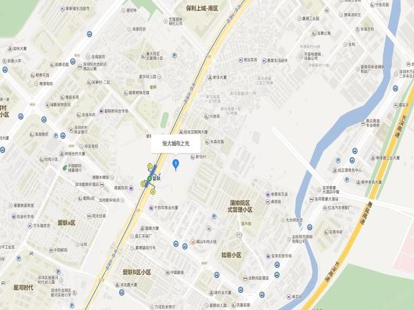 深圳恒大城市之光区位图