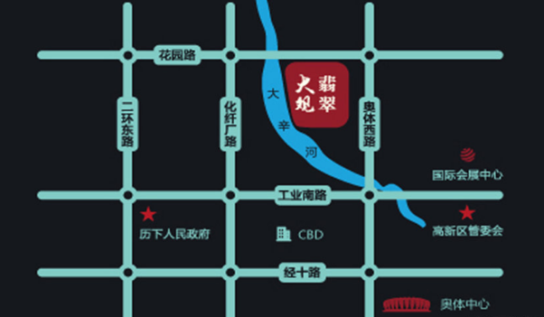 北科建·泰悦翡翠大观区位图
