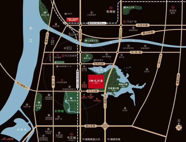 芜湖碧桂园·塘溪源著区位图