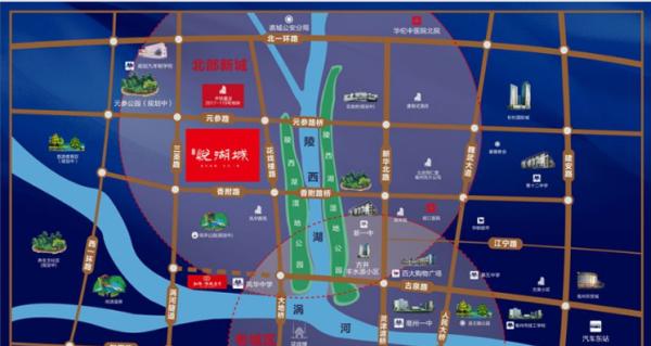 亳州古井悦湖城区位图