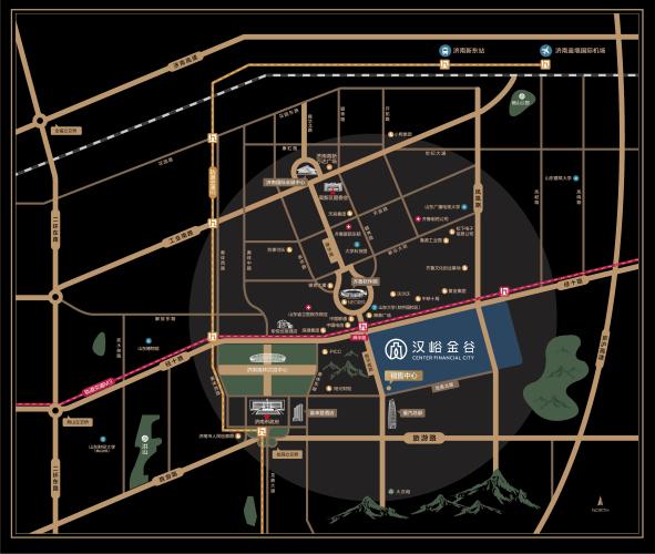 汉峪金谷区位图