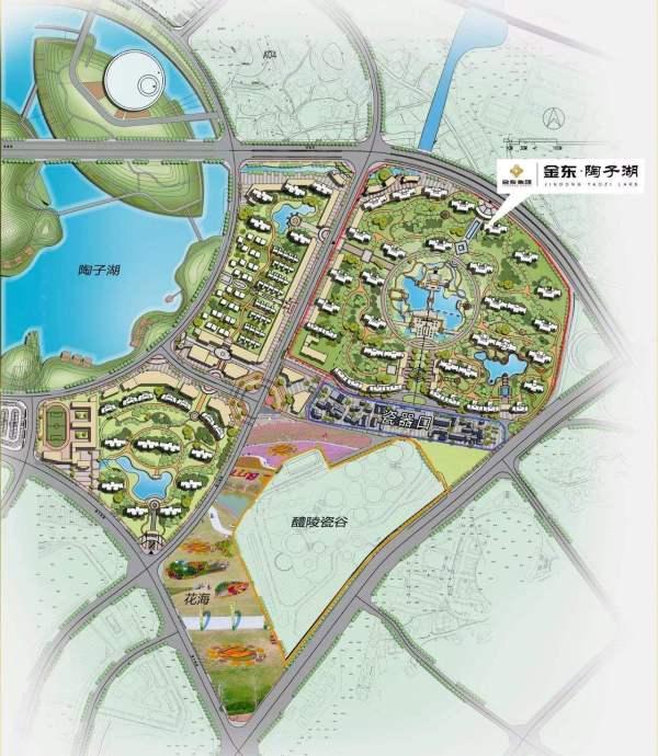 金东·陶子湖区位图