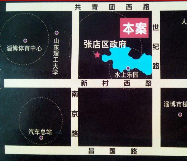 淄博恒大帝景区位图