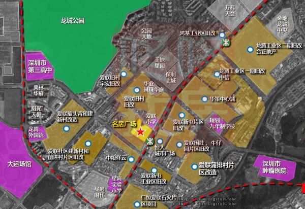 深圳名居广场区位图
