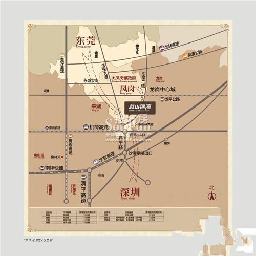 蓝山锦湾三期区位图