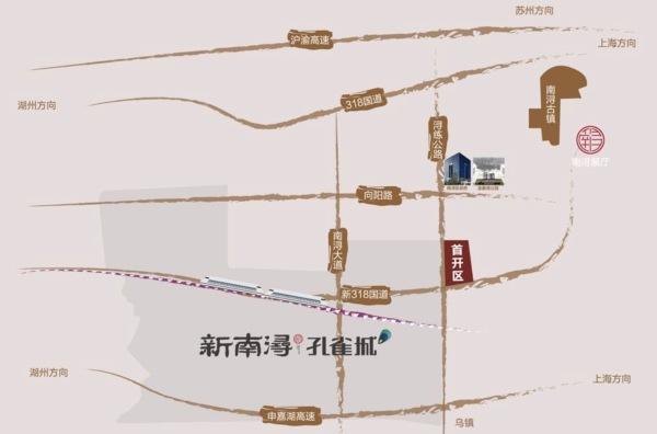 新南浔孔雀城区位图