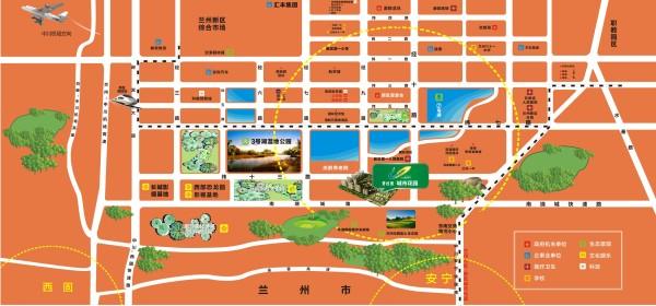 兰州碧桂园城市花园区位图