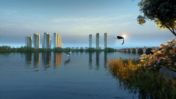 蚌埠玉龙湖畔效果图