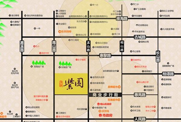 淮北-金冠紫园区位图