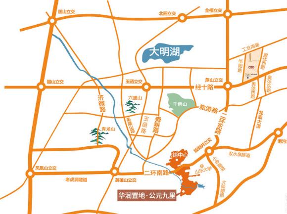 华润公元九里区位图
