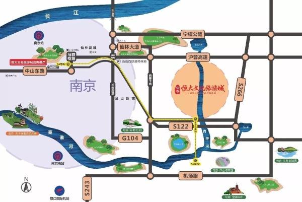 紫东恒大文化旅游城区位图