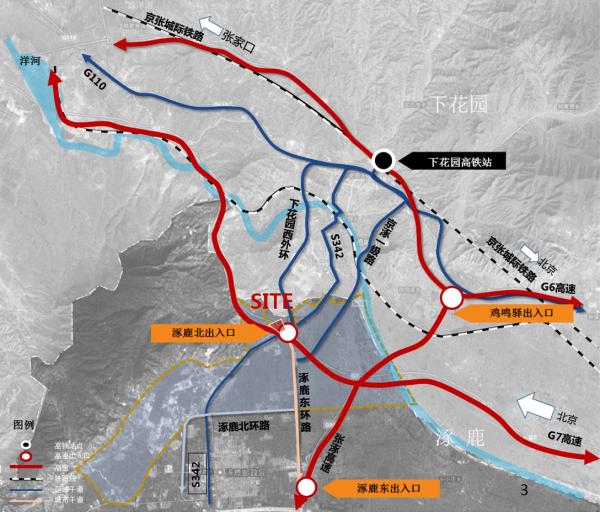 涿鹿孔雀城区位图