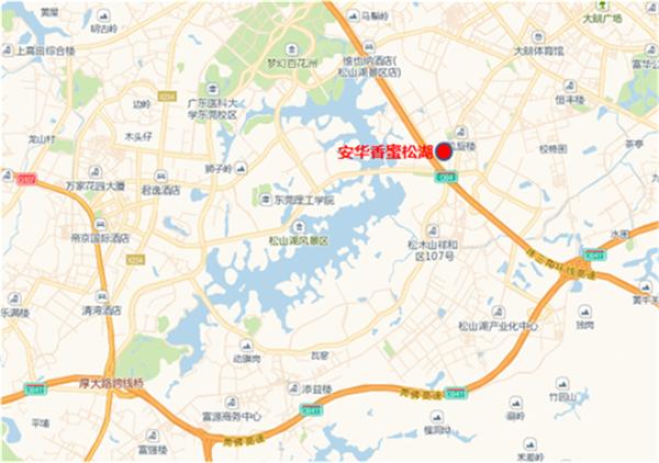 安华香蜜松湖区位图