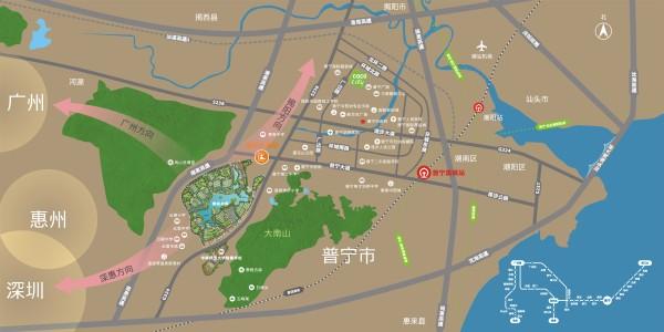 星河明珠湾区位图
